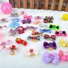 50pcs Assorted Pet Cat Dog Hair Bows with Rubber Bands Grooming Accessories