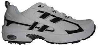 Men's MCA300 White/Black Athletic Golf Shoe Size 7W