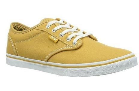 Women's Atwood Low Canvas Skate Shoes, Golden/White