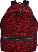 Saint Laurent Babycat-pattern Backpack-Red