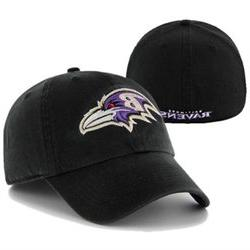 Baltimore Ravens 47 Brand NFL Black Franchise Fitted Hat -