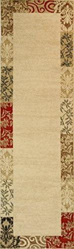 Well Woven Barclay Vane Willow Damask Transitional Area/Oval