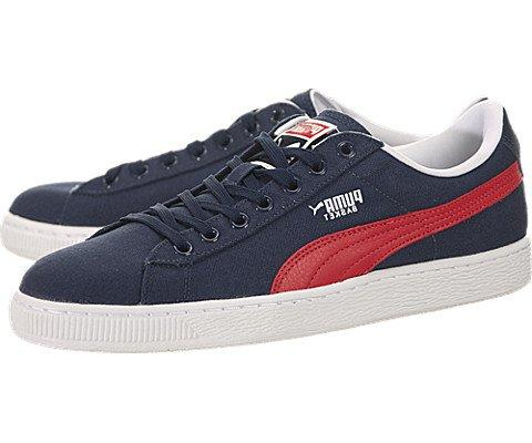 Puma Basket Classic Canvas - Peacoat / High Risk Red-White,