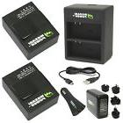 Wasabi Power Battery  and Dual Charger for GoPro Hero3 Hero3