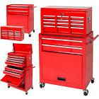 Portable Top Chest Rolling Tool Storage Box Cabinet Sliding