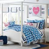 PBteen Beadboard Canopy Bed + Trundle
