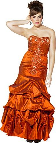 Beaded Taffeta Long Evening Gown Prom Homecoming Dress,