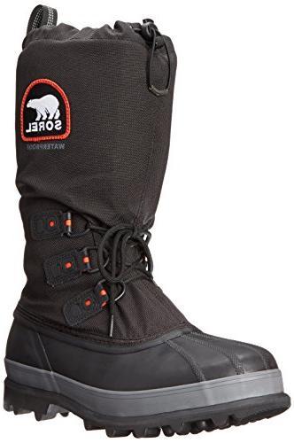 Sorel Men's Bear Extreme Snow Boot,Black/Red Quartz,12 M US