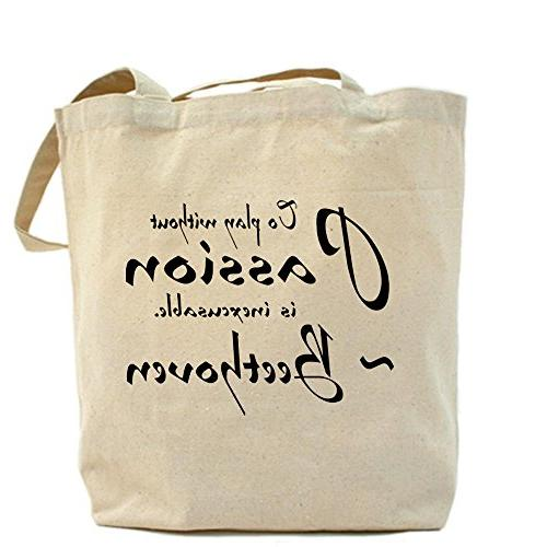 CafePress - Beethoven Music Passion Quote Tote Bag - Natural
