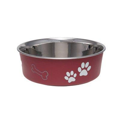 Bella Dog Bowl  Size: Small , Color: Merlot