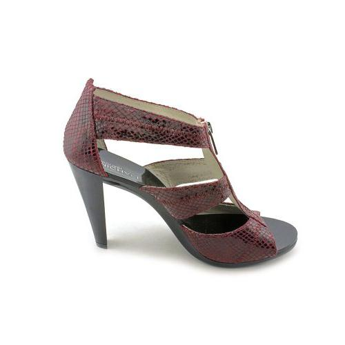 MICHAEL KORS BERKLEY BORDEAUX T-STRAP PUMP WOMENS SIZE 6.5 M
