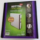NEW  Better 1 1/2 Inch Purple Binder 400 Sheet Capacity 3