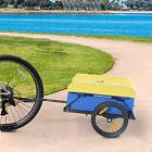 Aosom Bicycle Trailer Dual Wheels Touring Storage Sturdy Cargo Bike Luggage