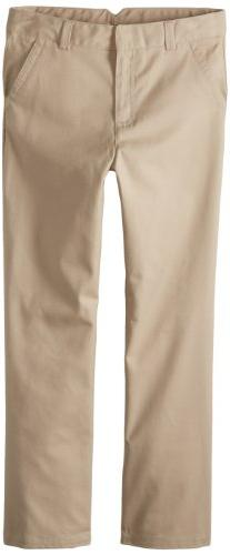 Dockers Big Girls'  Plus-Size Twill Straight Leg Pant, Khaki