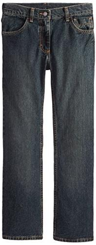 Wrangler Big Boys' Authentics Boot Cut Jeans, Forest Denim,