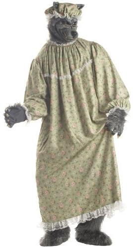 Big Bad Wolf Granny Costume - One Size - Chest Size 40-44