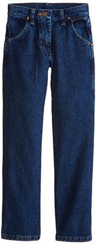 Wrangler Big Boys' Cowboy Cut Jeans,Dark Indigo,14 Regular