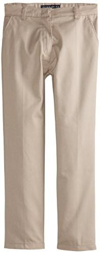 "French Toast Big Boys' ""Woolweight"" Flat Front Pants - gray"