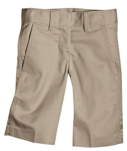 Dickies Little Boys' Flex Waist Flat Front Short, Khaki, 5