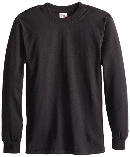 Soffe Big Boys' Long Sleeve T-Shirt,White,XL