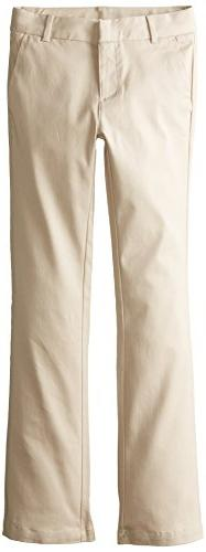 Izod Big Girls' Slim Fit Stretch Skinny Bootcut Uniform Pant
