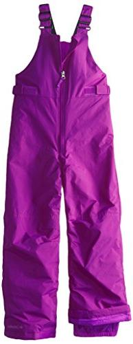 Columbia Big Girls' Snowslope II Bib, Bright Plum, Medium
