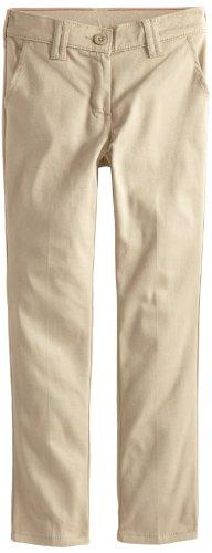 Dickies Big Girls' Stretch Skinny Straight Pant, Desert Sand