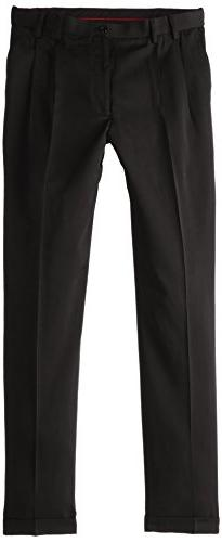 IZOD Men's Big & Tall Pleated Traveler Dress Pant, Deep