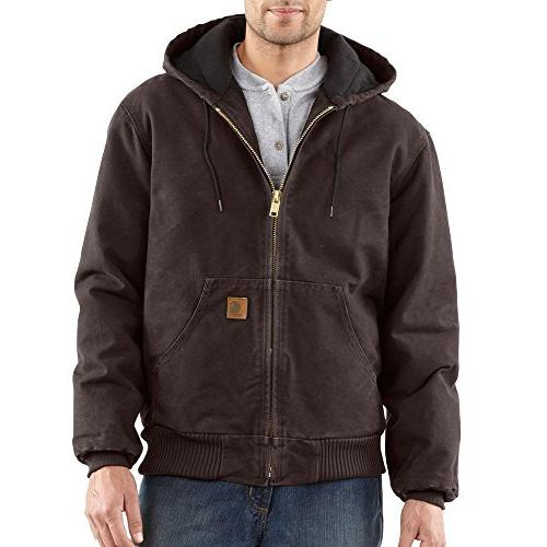 Carhartt Men's J130 Sandstone Duck Active Jacket - Quilted