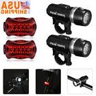 2X 5 LED Bike Bicycle Cycling Front Lamp Head Light + Rear