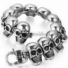 Men's Biker Punk Rock Heavy Stainless Steel Skull Chain