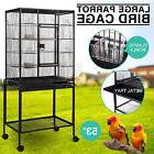 """Large Bird 53"""" Parrot Cage Iron Pet Supplies Finch Conures"""