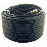 Steren BL-215-450BK 50 feet F-f RG6 Patch Cable for CATV and
