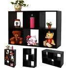 Black 6-Cube Organizer Storage Shelf Bookcase Home Office