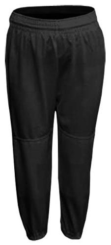 Black Youth Small Baseball/Softball Pull-Up Pants with