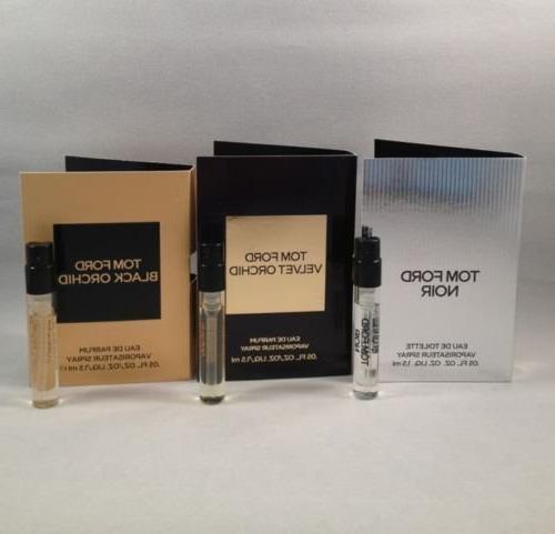Lot of 3 Tom Ford Black Orchid, Noir, Velvet Orchid Spray