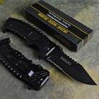 TAC-FORCE Black Rescue Tactical Combat Spring Assisted Open