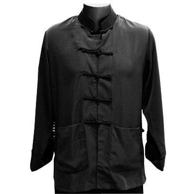 Black Silk Kung Fu Jacket, Size S