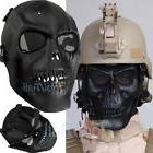 Black Skull Skeleton Full Face Mask Tactical Paintball