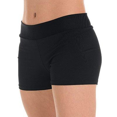 Black Spiritflex Mid-rise Smooth Waist Hot Shorts