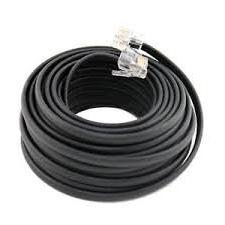 Permo Telephone Extension Cord Cable Line Wire, Black
