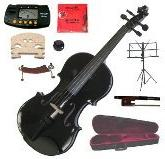 "Merano 13"" Black Viola with Case and Bow+Extra Set of"