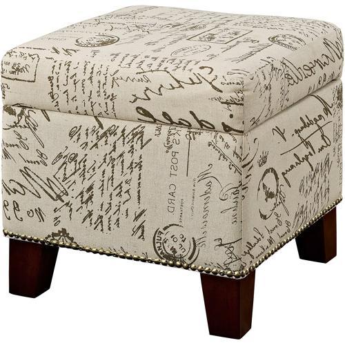 Blake Script Cube Ottoman