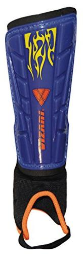 Vizari Blaze Shin Guard, Blue/Orange, Medium
