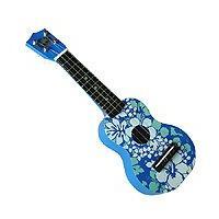 Blue Floral Keiki Ukulele 17
