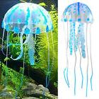 Blue Glowing Effect Aquarium Jellyfish Ornament Fish Tank