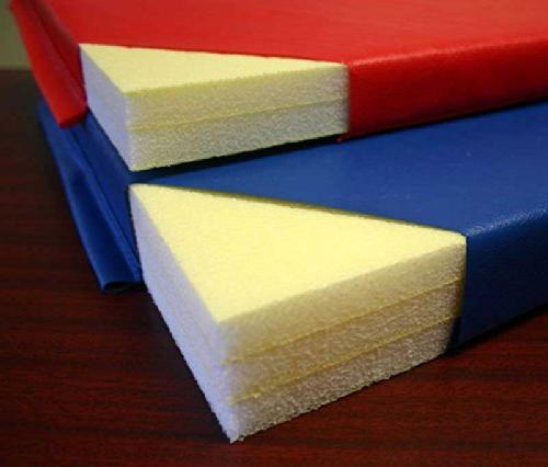 "Folding Mat, 4'x6'x1-3/8"", Black, Hook and Loop fastener on"