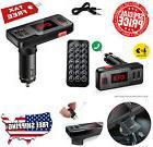 Bluetooth FM Transmitter Radio Wireless Adapter MP3 Player Car Charger USB Port