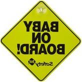 Safety 1st Baby on Board Sign - Yellow