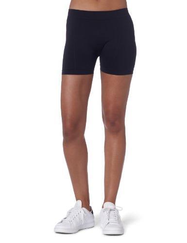 Bollé Women's Solid Panel Seamless Tennis Short, Black, X-